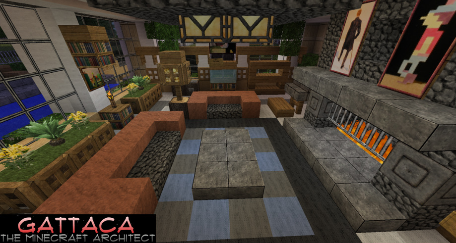 Gatt mansion by gattacaae videos show your creation for Minecraft living room ideas xbox
